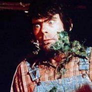Stephen King en el set de Creepshow